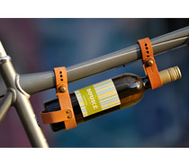 Leather Bicycle Wine Carrier